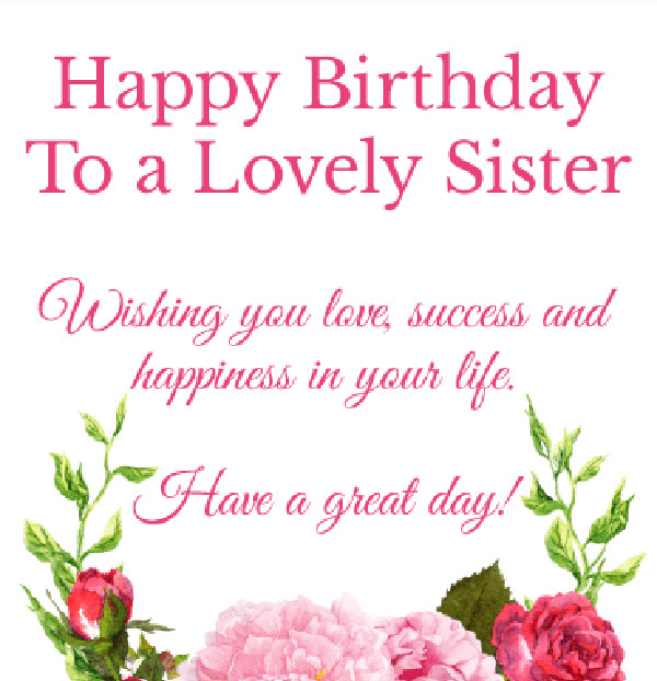 Happy Birthday Quotes For Sister  260 Best Happy Birthday Wishes and Quotes for Sisters