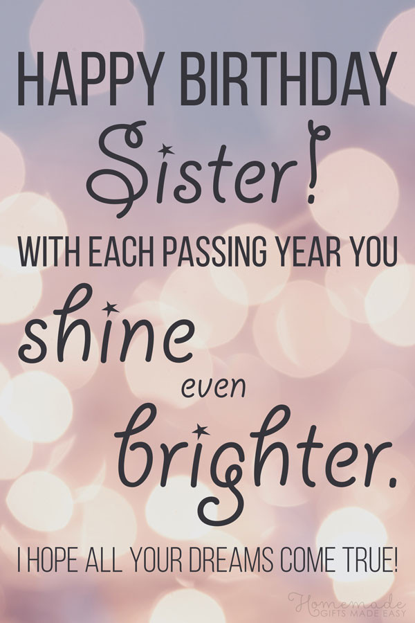 Happy Birthday Quotes For Sister  150 Happy Birthday Wishes for Sister Find the Perfect