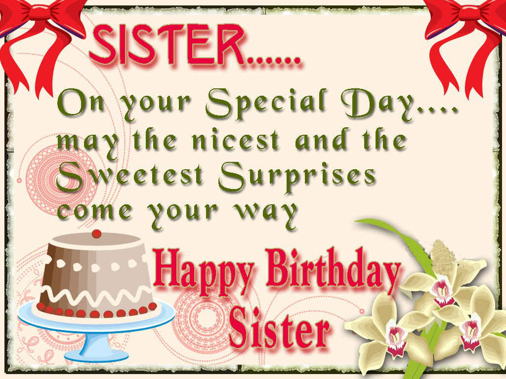 Happy Birthday Quotes For Sister  happy birthday sister greeting cards hd wishes wallpapers