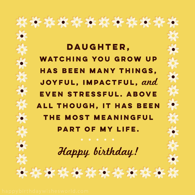 Happy Birthday To My Beautiful Daughter Quotes  100 Birthday Wishes for Daughters Find the perfect
