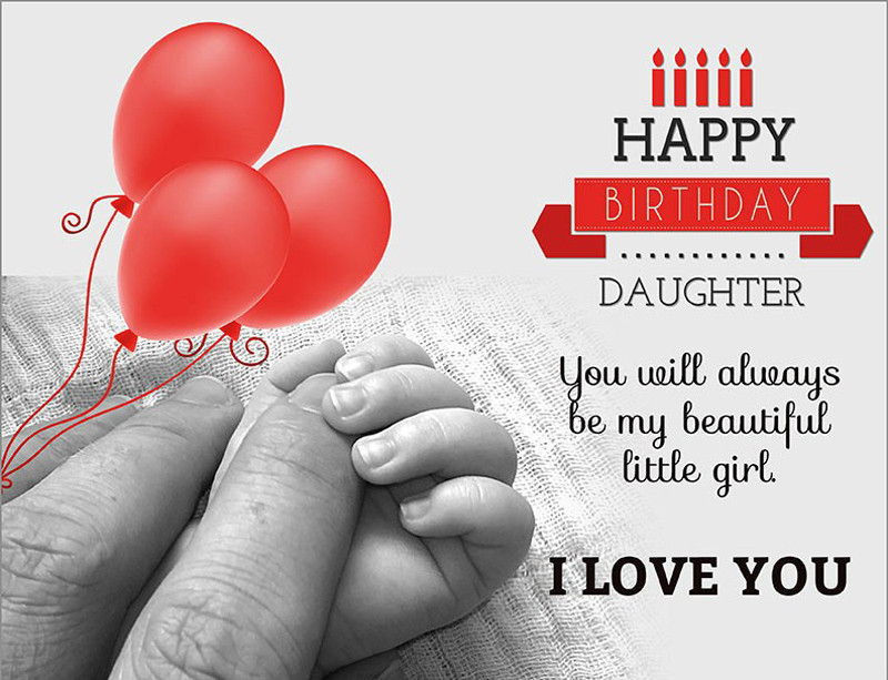 Happy Birthday To My Beautiful Daughter Quotes  Birthday Status For Daughter Short Quotes and Messages