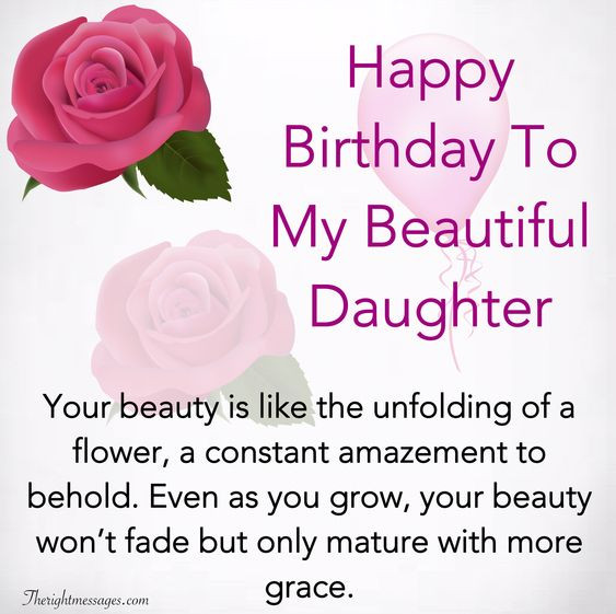 Happy Birthday To My Beautiful Daughter Quotes  Happy Birthday Wishes For Daughter Inspirational