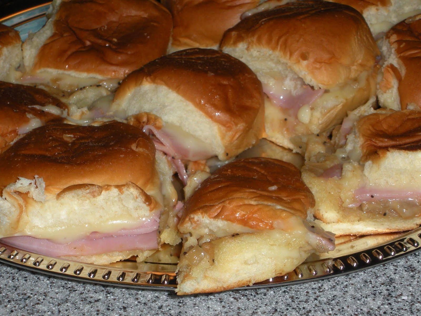 Hawaiian Bread Ham Sandwiches  NOT A REAL HOUSEWIFE Mini Ham Sandwiches on Hawaiian Rolls