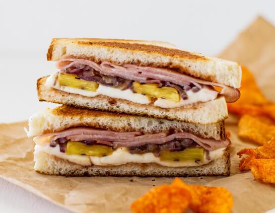 Hawaiian Bread Ham Sandwiches  Grilled Hawaiian Ham Sandwiches