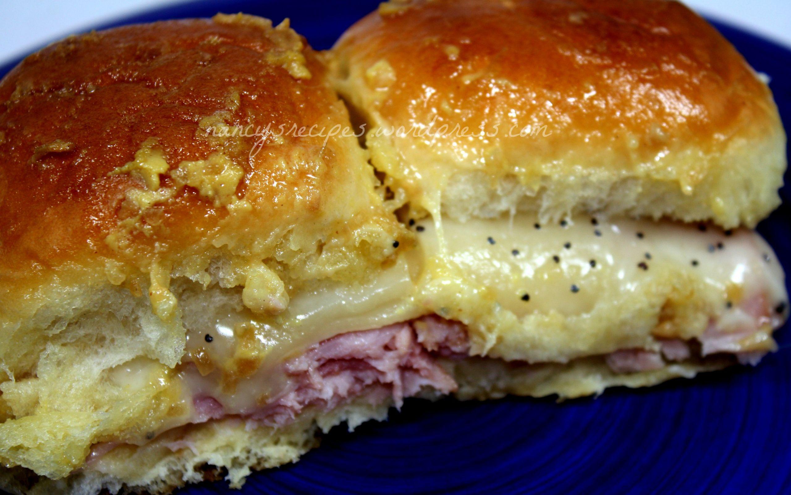 Hawaiian Bread Ham Sandwiches  Hawaiian Ham Sandwiches