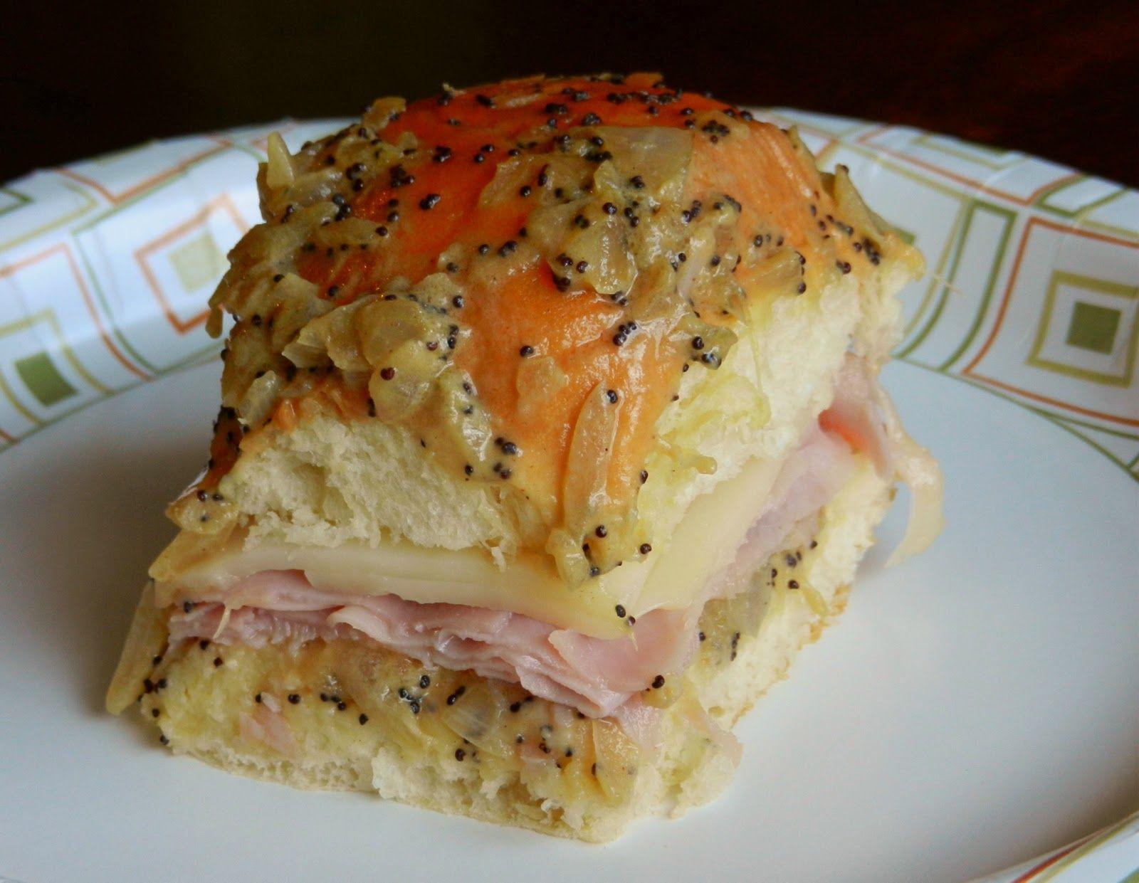 Hawaiian Bread Ham Sandwiches  Hawaiian Rolls with Baked Ham and Swiss Love me some