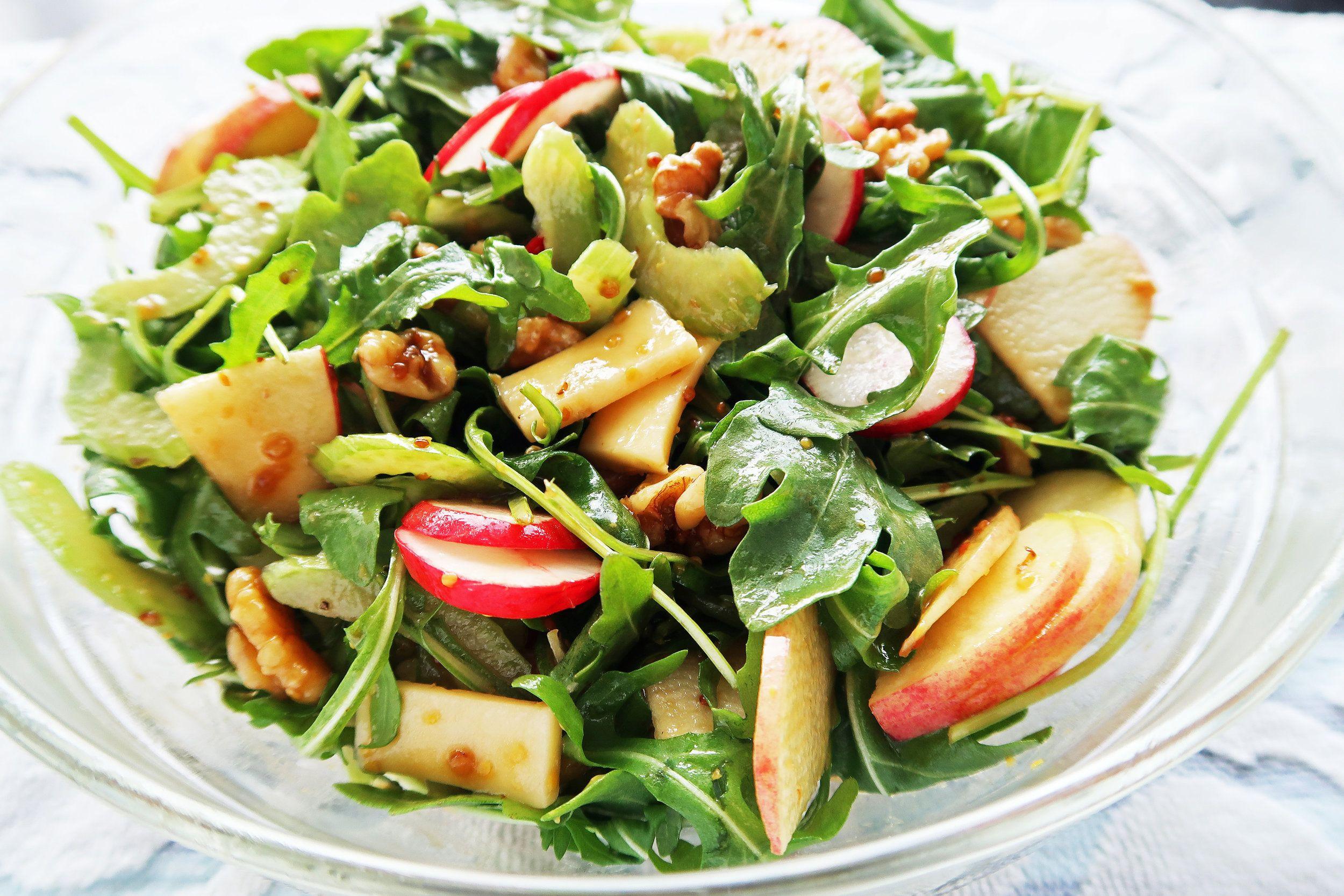 Heart Healthy Winter Recipes  Crunchy Winter Salad with Balsamic Honey Mustard Dressing
