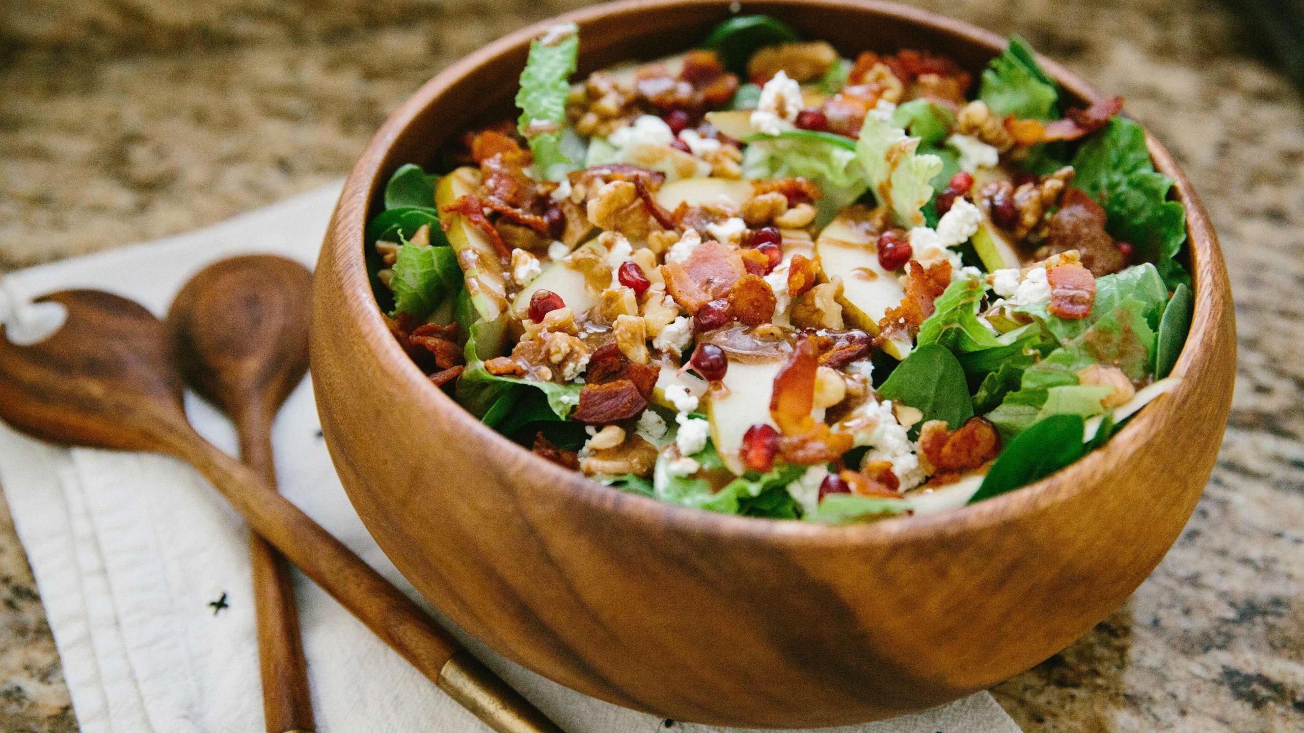 Heart Healthy Winter Recipes  Bacon Berry Winter Salad Recipe