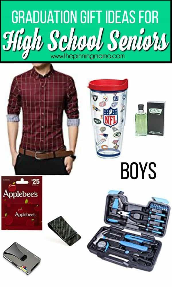 High School Graduation Gift Ideas For Guys  High School Graduation Gift ideas • The Pinning Mama