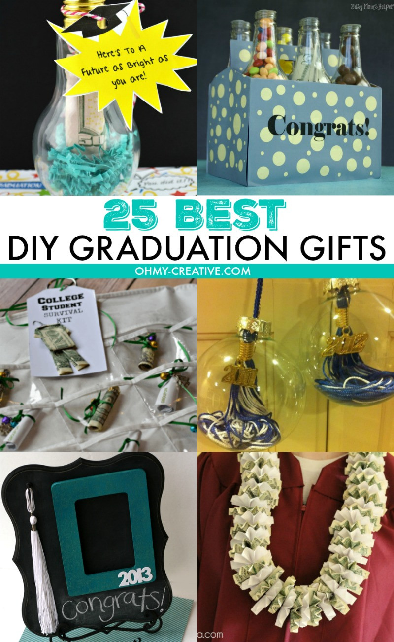 High School Graduation Gift Ideas For Her  25 Best DIY Graduation Gifts Oh My Creative