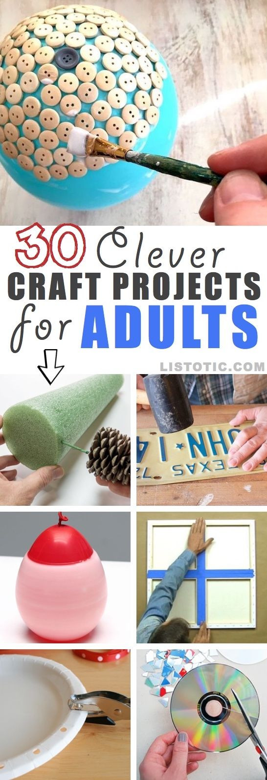 Home Craft Ideas For Adults  Easy DIY craft ideas for adults and teens for the home