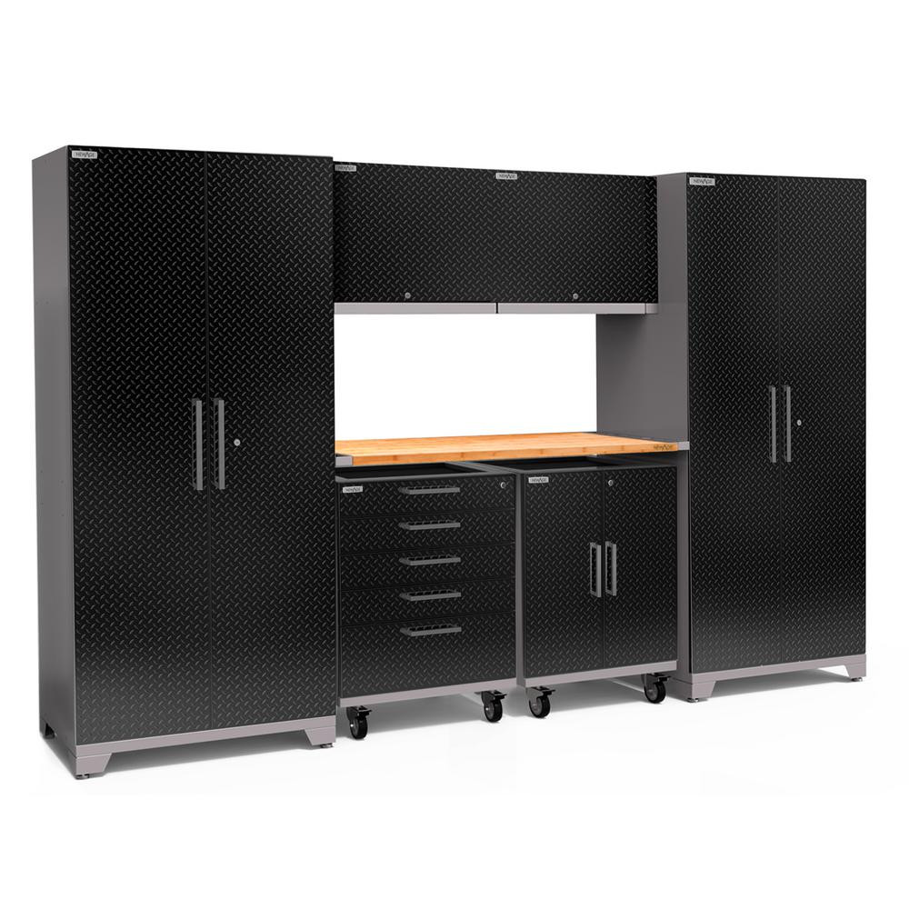Home Depot Garage Organization  NewAge Products Performance Plus Diamond Plate 2 0 80 in
