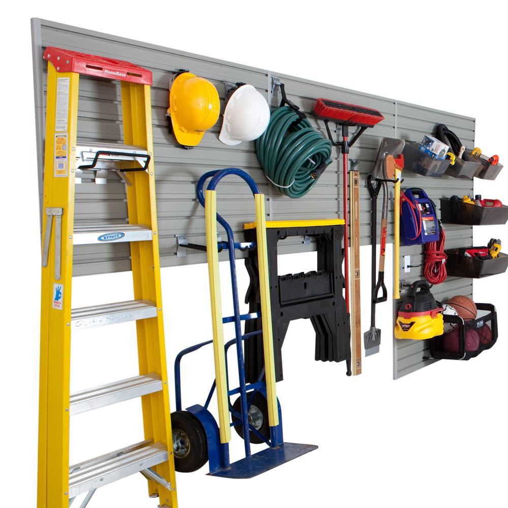 Home Depot Garage Organization  Flow Wall 6 partments Small Part Organizer Modular