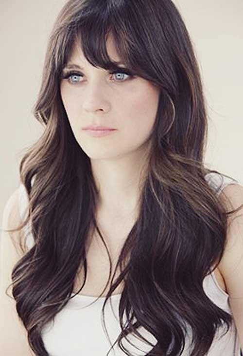 How To Cut Bangs On Long Hair  25 Hairstyles with Long Bangs