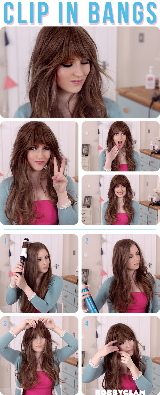 How To Cut Bangs On Long Hair  How to a Look with Bangs without Cutting Your Hair