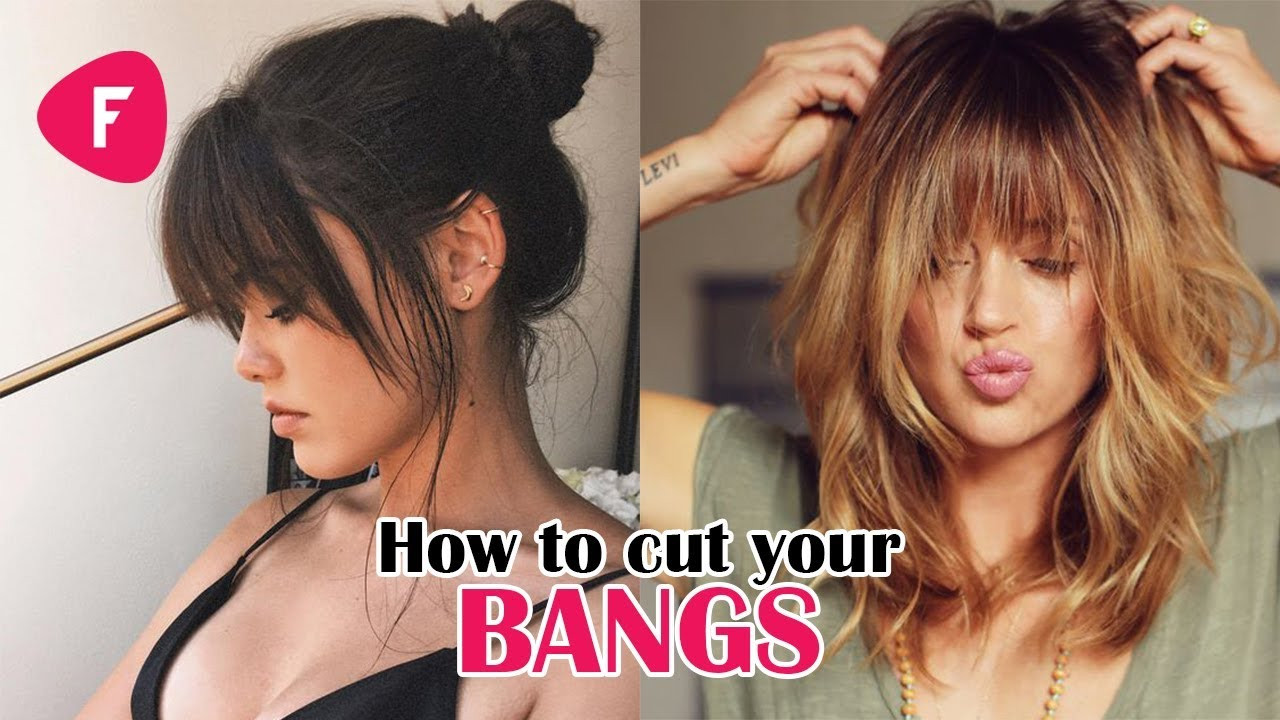 How To Cut Bangs On Long Hair  How To Cut Your Own Bangs Fringe DIY Tutorials