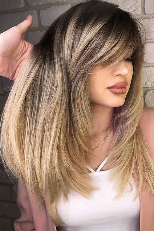 How To Cut Bangs On Long Hair  Latest 20 Hairstyles with Bangs 2019