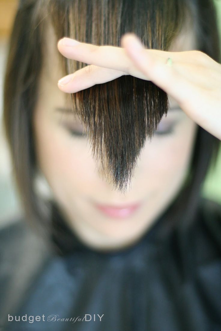 How To Cut Bangs On Long Hair  17 Best images about Hair Cutting Styling Tips on