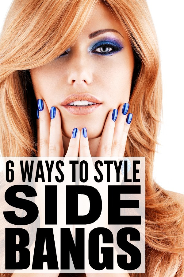 How To Cut Bangs On Long Hair  6 ways to style side bangs