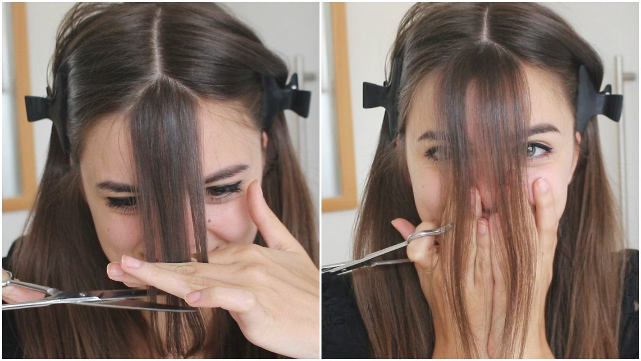 How To Cut Bangs On Long Hair  Cutting My Bangs
