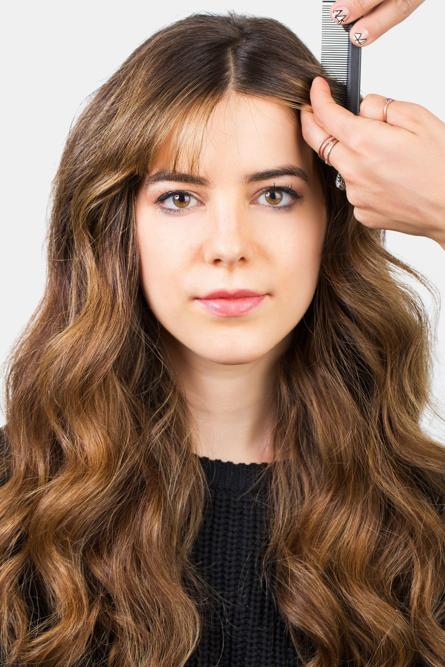 How To Cut Bangs On Long Hair  How to Style Bangs 5 Hairstyles to Keep Your Bangs Out