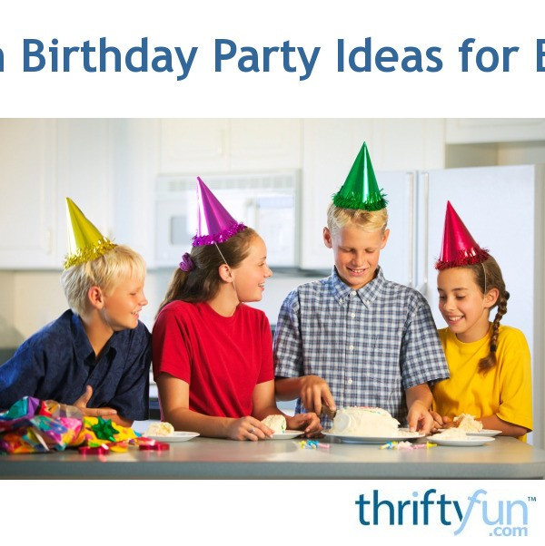 Ideas For 14 Year Old Boy Birthday Party  14th Birthday Party Ideas for Boys