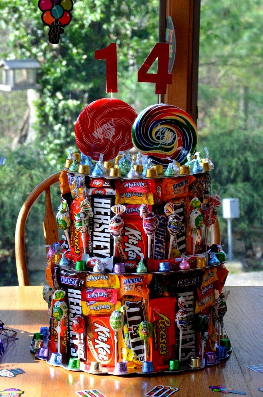 Ideas For 14 Year Old Boy Birthday Party  Jeremy s 14th Birthday Candy Cake