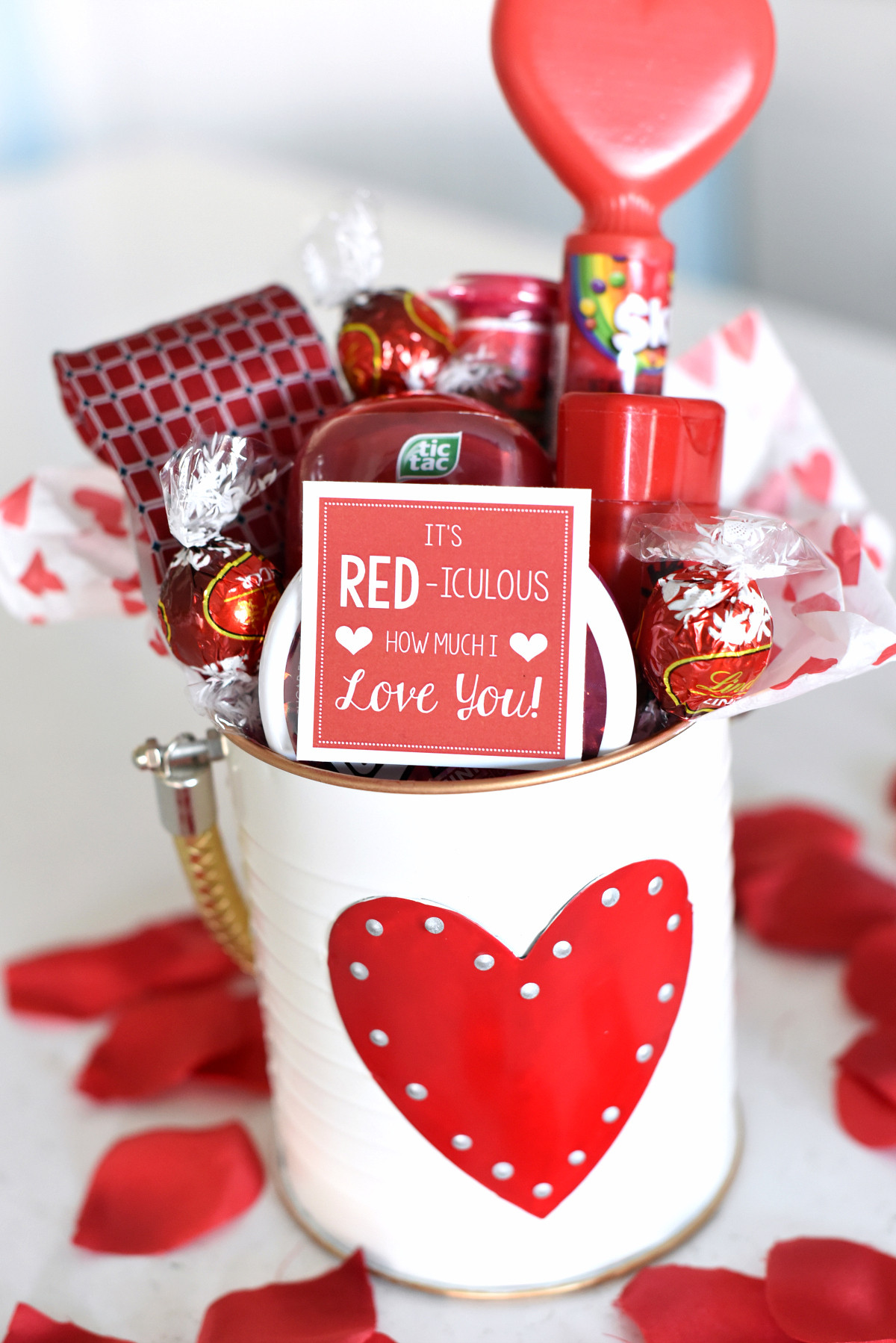 Ideas For Valentine Gift  Cute Valentine s Day Gift Idea RED iculous Basket