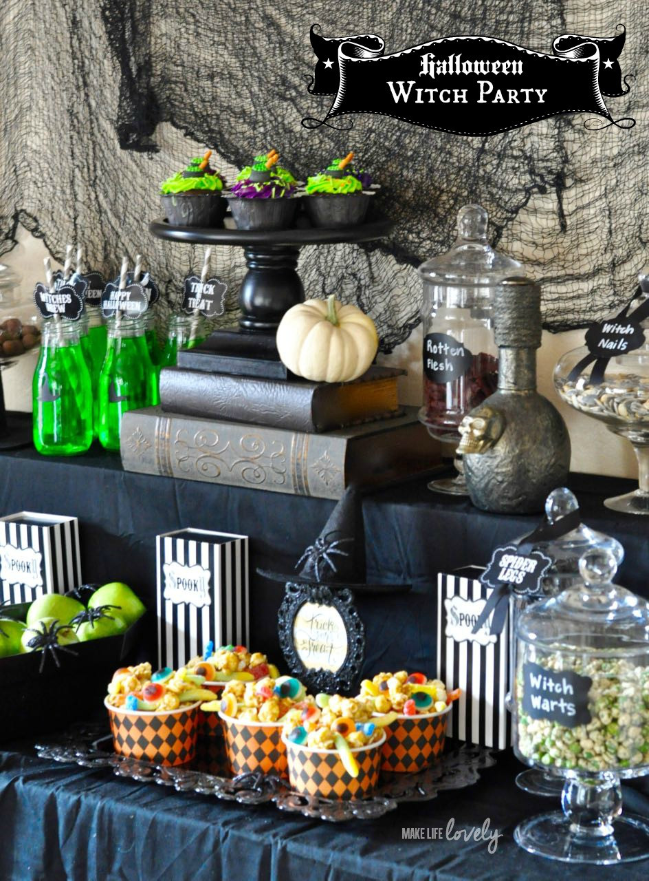 Ideas Halloween Party  Witch Halloween Party Cauldron Pudding Make Life Lovely