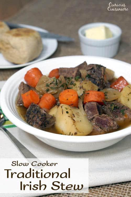 Irish Beef Stew Slow Cooker  Slow Cooker Irish Beef Stew • Curious Cuisiniere