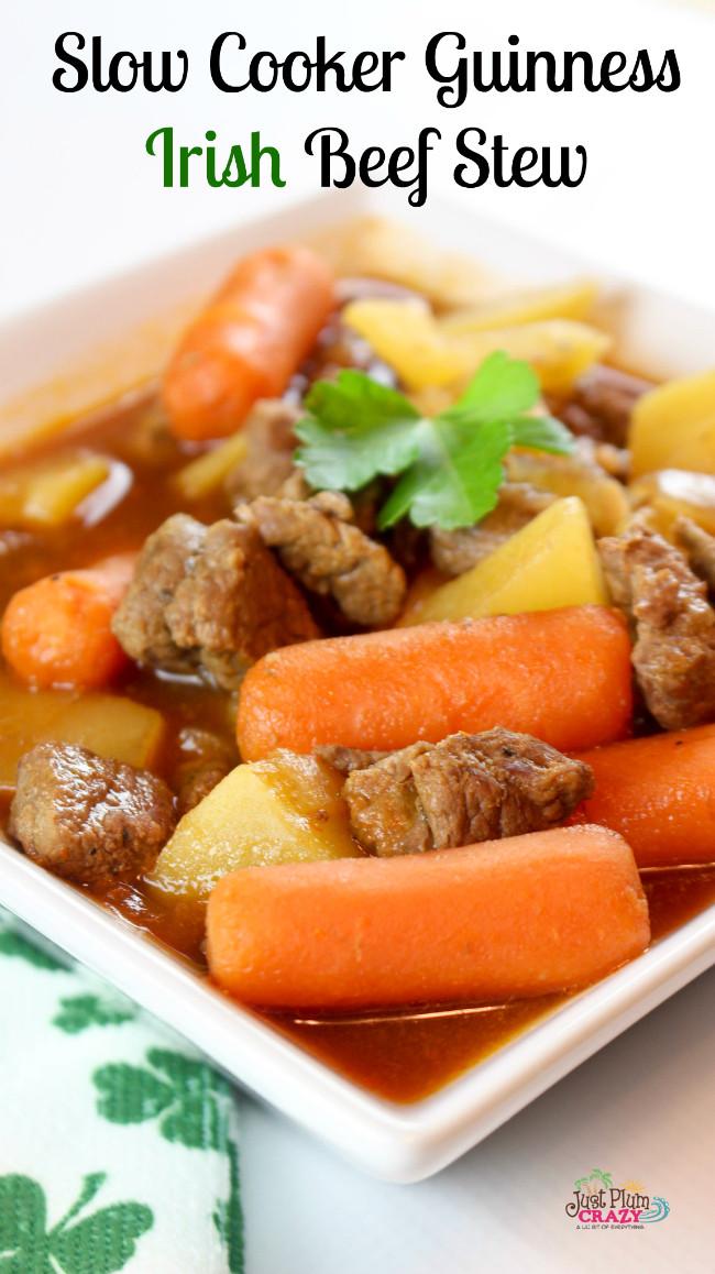Irish Beef Stew Slow Cooker  Slow Cooker Irish Beef Stew Recipe with Guinness Beer