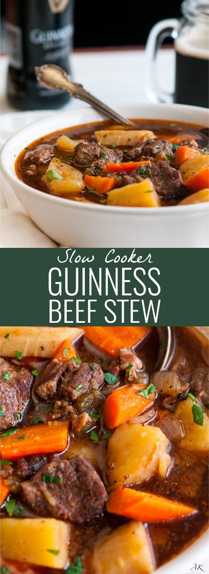 Irish Beef Stew Slow Cooker  Slow Cooker Guinness Beef Stew Aberdeen s Kitchen
