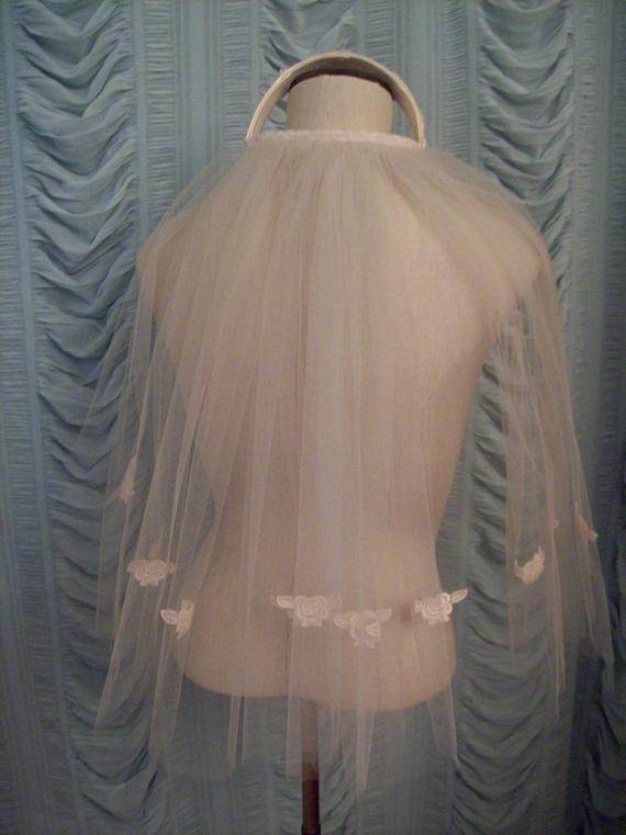 Jackie Kennedy Wedding Veil  Wedding veil powder pink Jackie Kennedy cap simple juliet cap