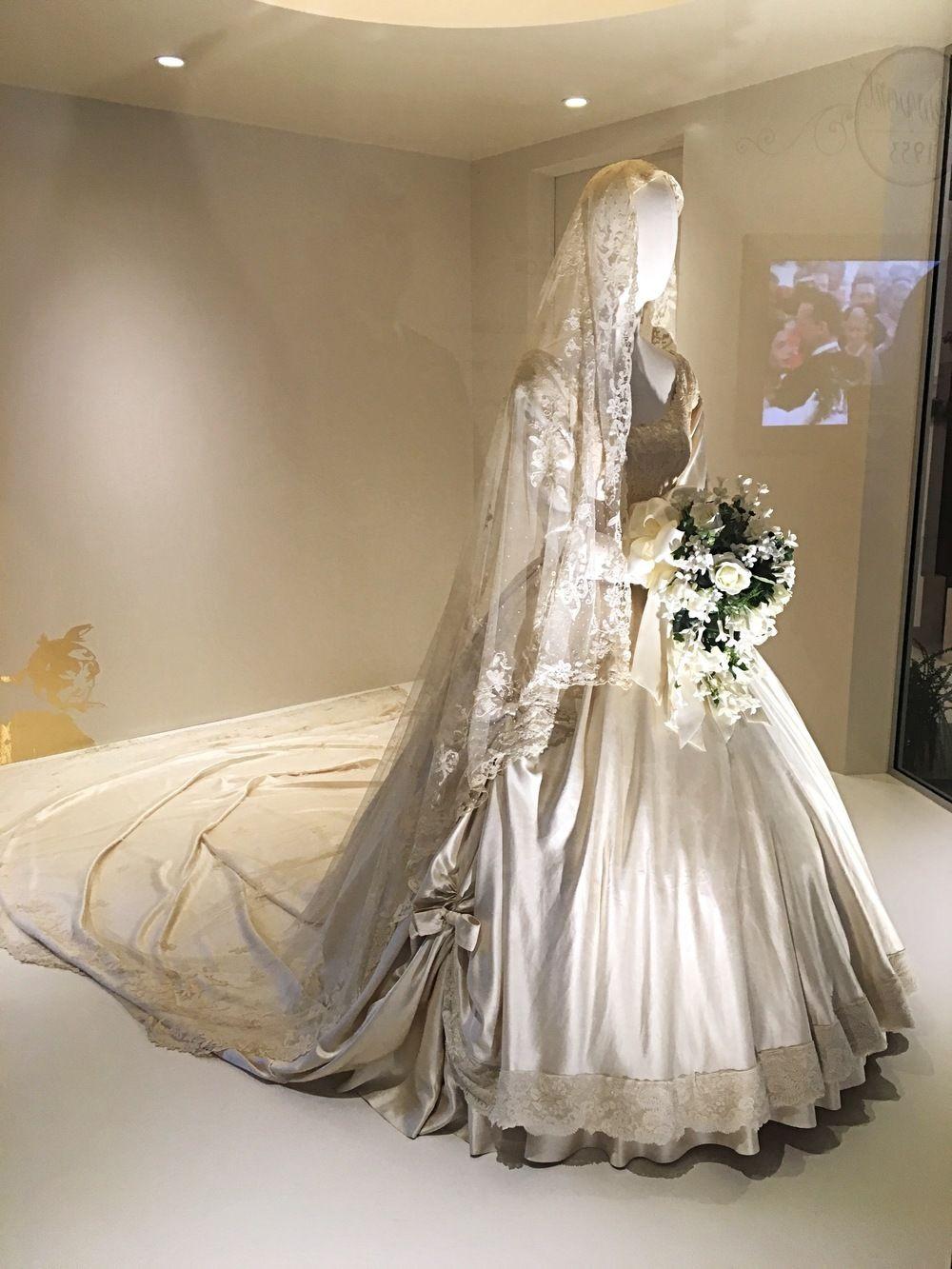 Jackie Kennedy Wedding Veil  May 2016 Jackie Kennedy s wedding veil on display at