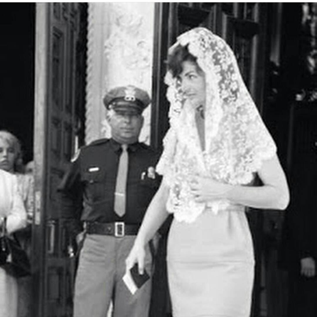 Jackie Kennedy Wedding Veil  Jackie Kennedy always wore beautiful mantillas to Mass