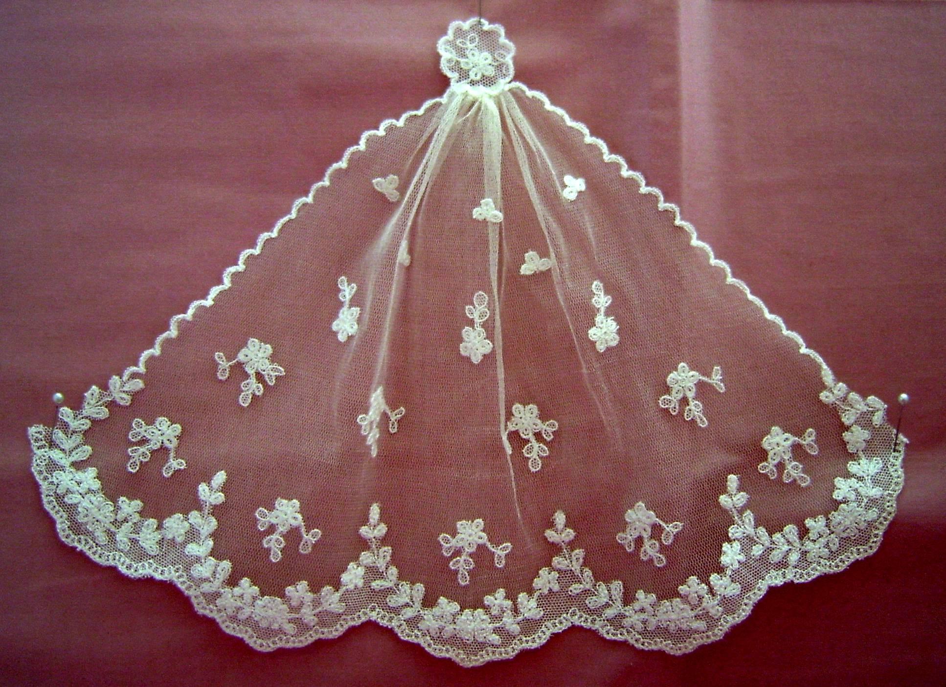 Jackie Kennedy Wedding Veil  JACKIE KENNEDY VEIL SPREAD OUT – Angeliqueminiatures Blog