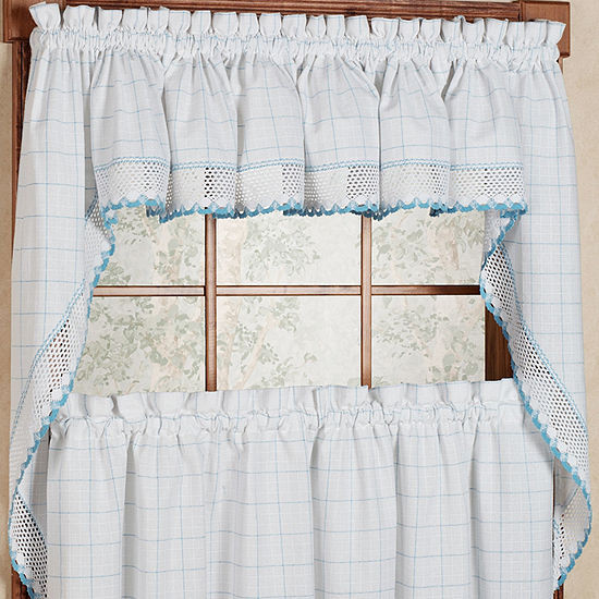 Jcpenney Curtains Kitchen  Adirondack Cotton Kitchen Window Curtains Color White