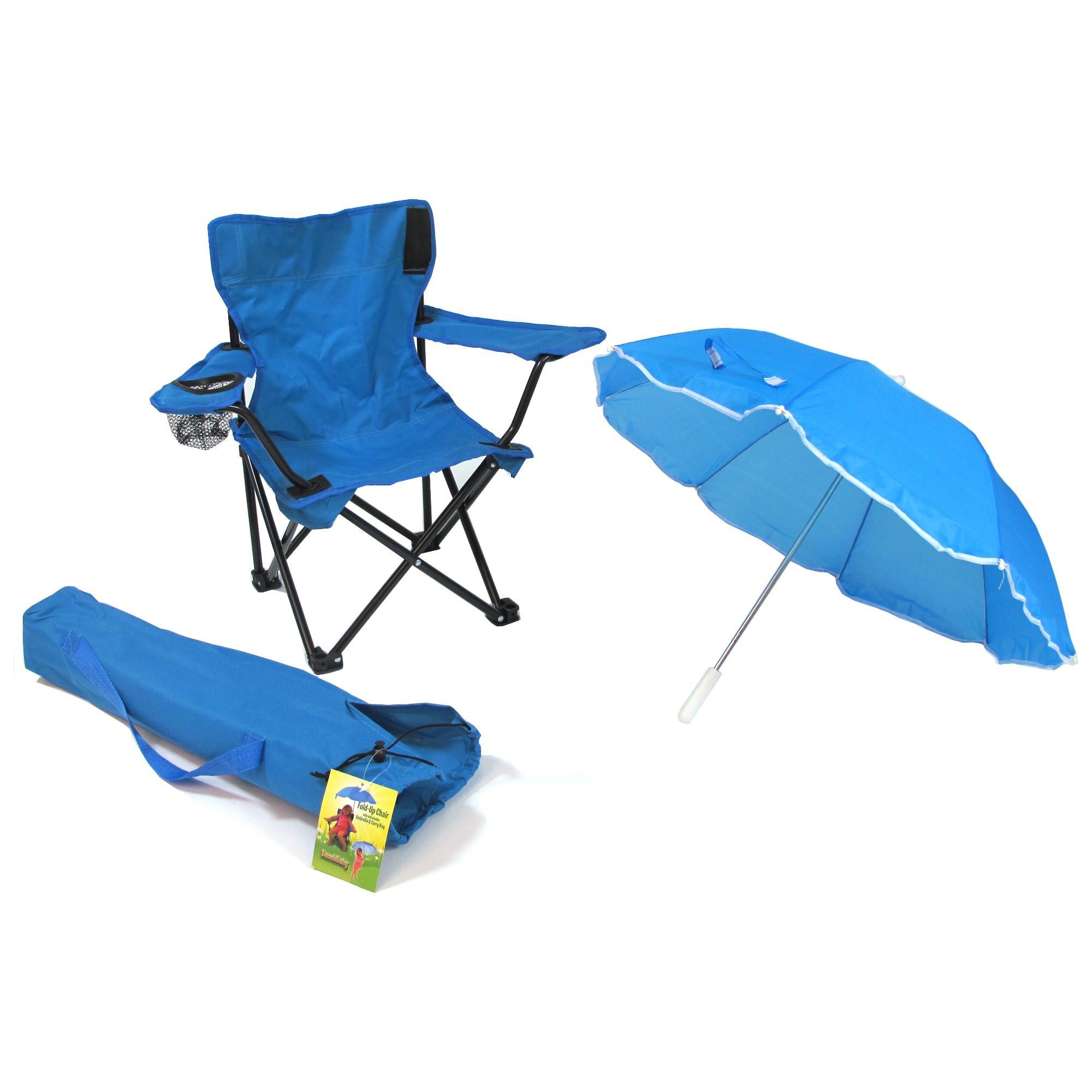 Kids Beach Chair With Umbrella  Portable Outdoor Kids Beach Camping Folding Chair with