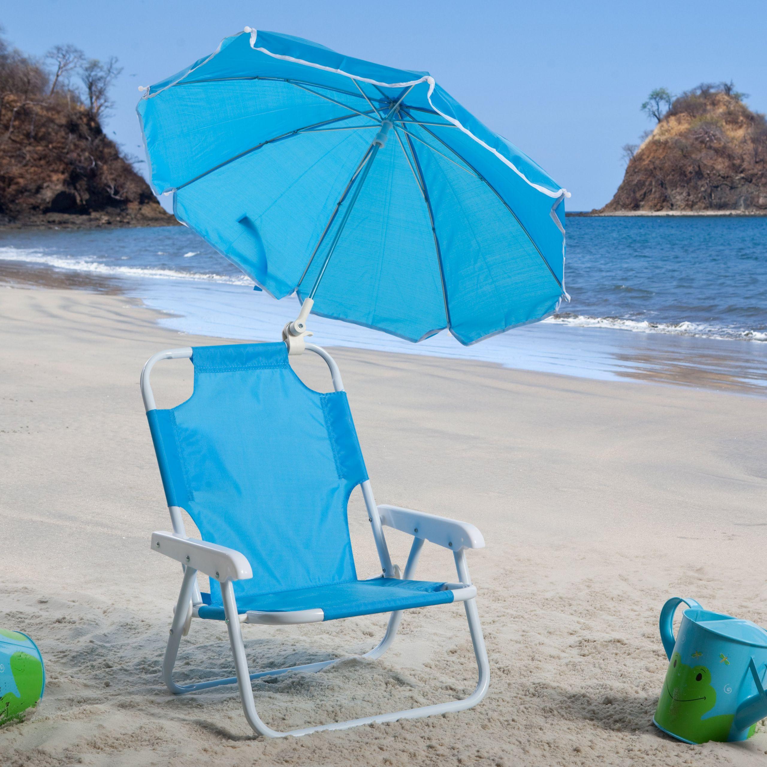 Kids Beach Chair With Umbrella  Kids Blue Beach Chair & Umbrella Walmart Walmart