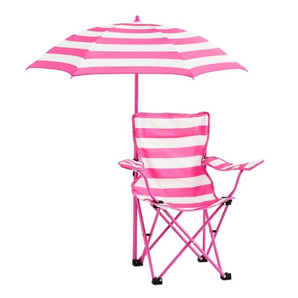 Kids Beach Chair With Umbrella  Shop Kids Rugby Stripe Beach Chair with Umbrella Free