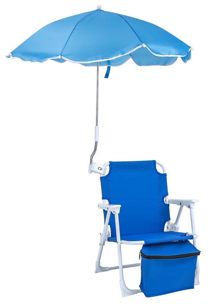 Kids Beach Chair With Umbrella  Kids Beach Umbrella Chair Blue – Sorbus Home