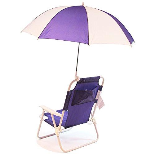 Kids Beach Chair With Umbrella  NEW Redmon Outdoor Baby Kids Beach Chair with Umbrella