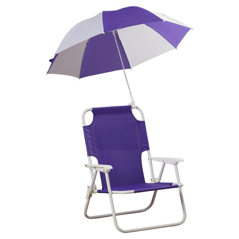 Kids Beach Chair With Umbrella  Zoomie Kids Alexus Umbrella Kids Beach Chair & Reviews