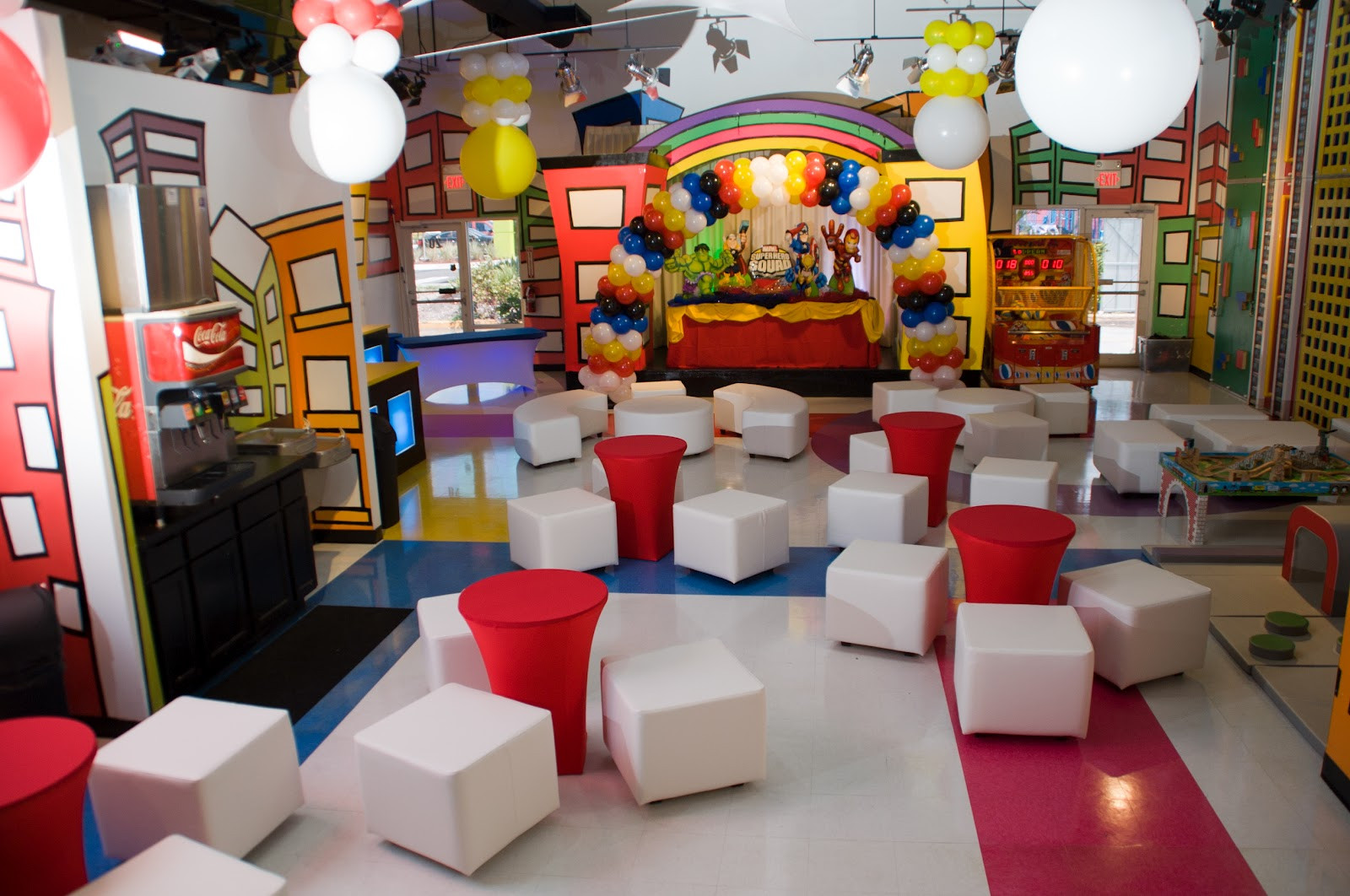 Kids Birthday Party Miami  Minitown Party Indoor Party Place Our new party lounge