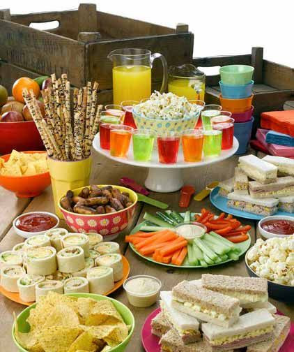 Kids Birthday Party Snacks  Party food spread for kids Birthday Parties