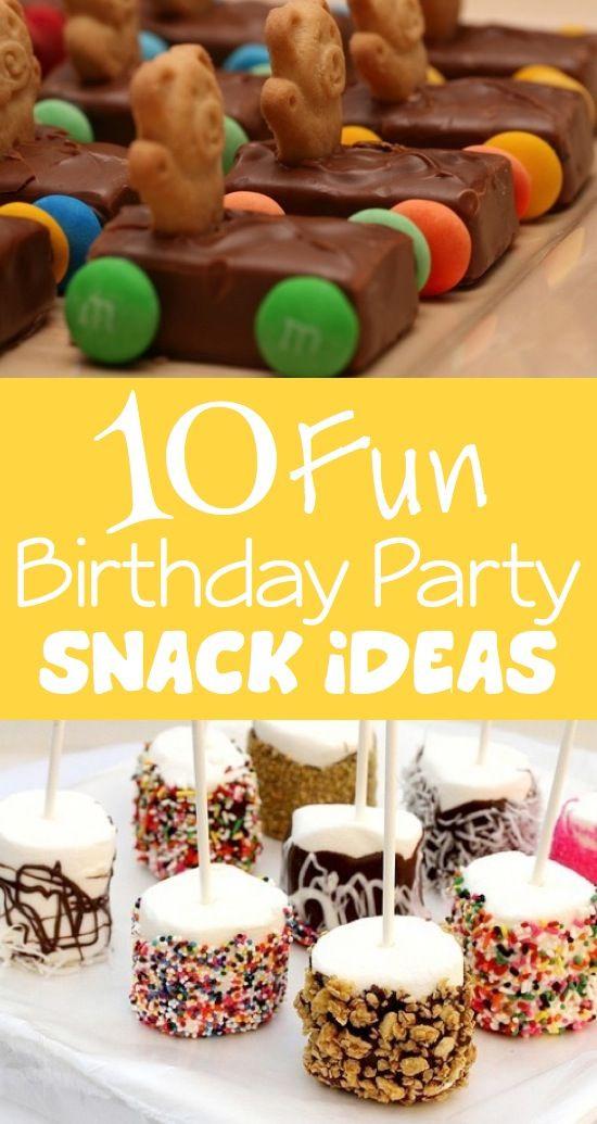 Kids Birthday Party Snacks  10 Fun Birthday Party Snack Ideas Kids Kubby