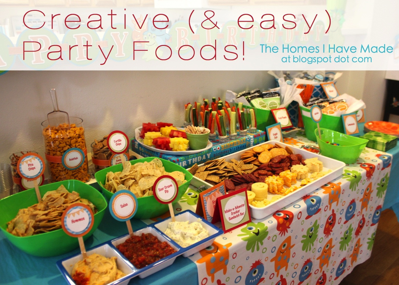 Kids Birthday Party Snacks  Monster Party Spotlight on Food
