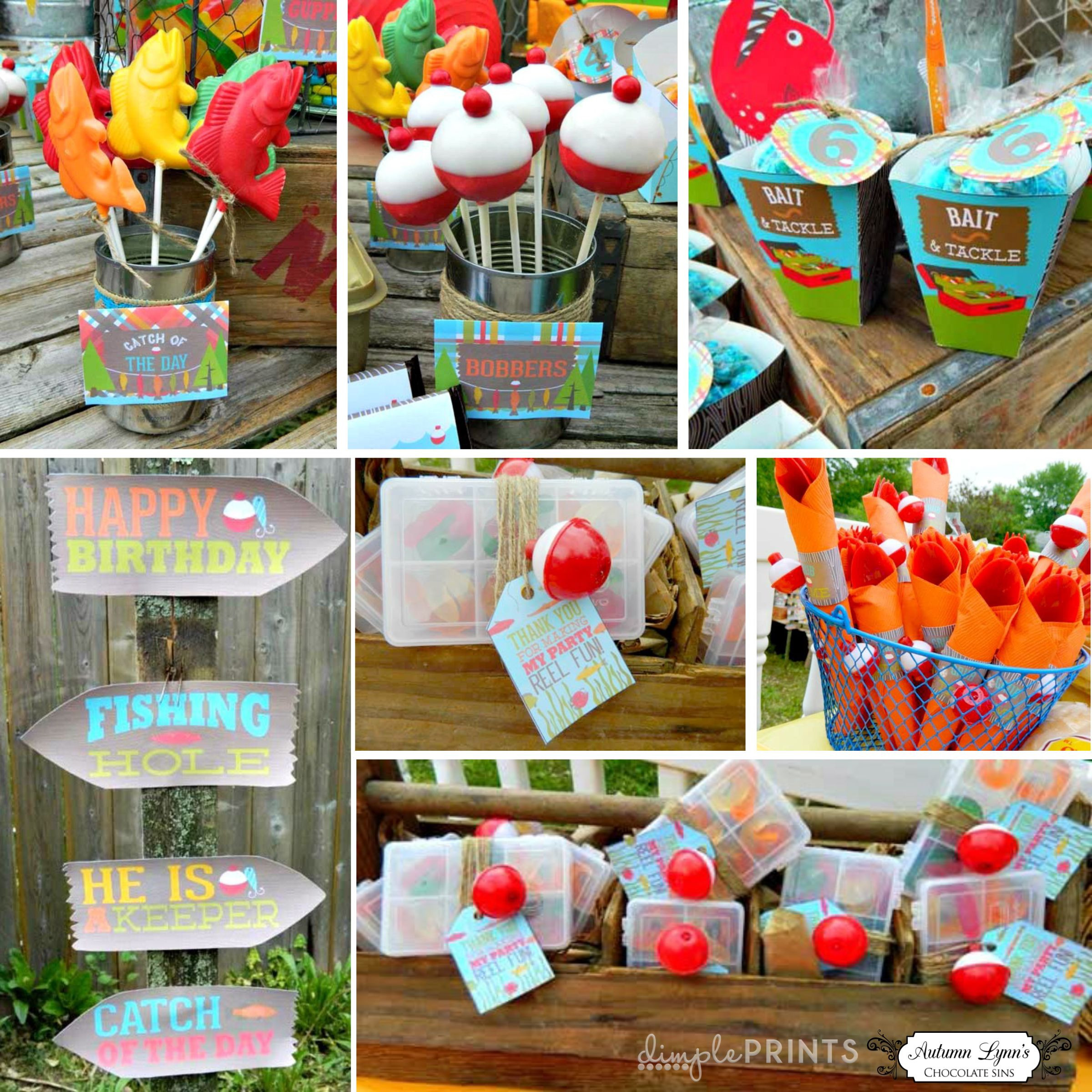 Kids Fish Birthday Party  Fishing Deluxe Printable Birthday Party Package in 2019