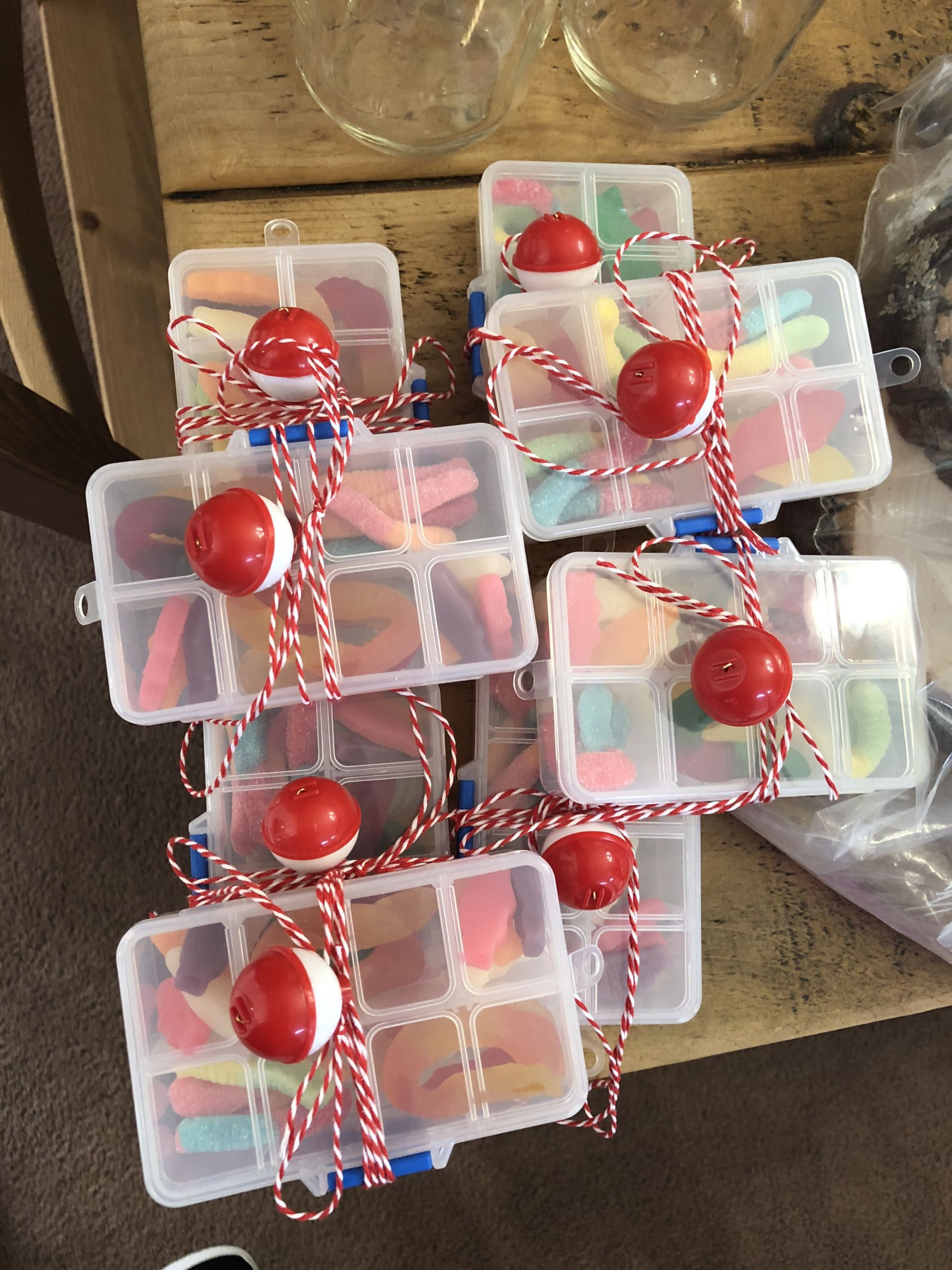 "Kids Fish Birthday Party  Mini ""Tackle boxes"" for a fishing theme party These are"