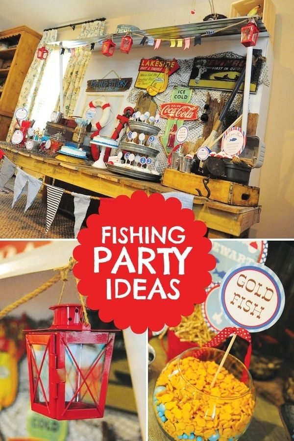 Kids Fish Birthday Party  Southern Blue Celebrations Fishing Party Ideas & Inspirations